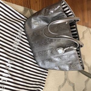Henri Bendel Silver Shimmer bucket bag